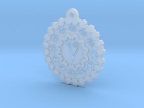 Magic Letter V Pendant in Smooth Fine Detail Plastic