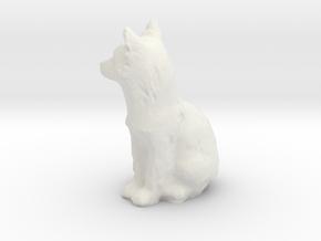 O Scale fox in White Natural Versatile Plastic