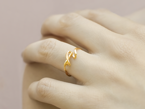 Curl Ring in 14k Gold Plated Brass: 6.5 / 52.75