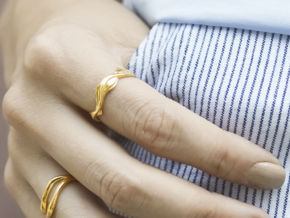 Sharp Edges Ring in 14k Gold Plated Brass: 6.5 / 52.75