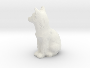 S Scale fox in White Natural Versatile Plastic