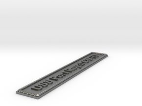 Nameplate USS Port Royal CG-73 in Natural Silver