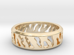 Tiger Stripe Ring in 14k Gold Plated Brass: 5 / 49