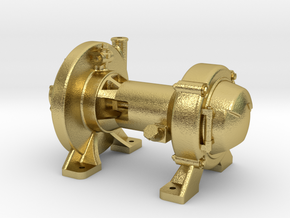 "1:16 Scale Pyle Type ""E"" Steam Turbo Generator in Natural Brass"