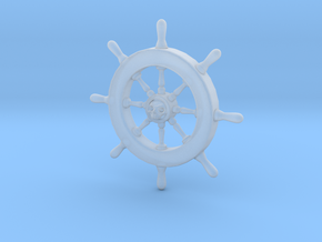 Pirate Ship Wheel Pendant in Smooth Fine Detail Plastic
