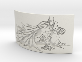 Batman Curved Lithophane in White Natural Versatile Plastic