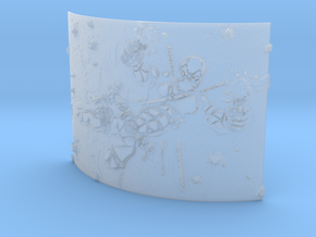 deadpool Curved Lithophane in Smooth Fine Detail Plastic