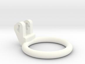 New Fun Cage - Ring - 48mm - Circular in White Processed Versatile Plastic