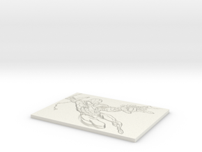 Spiderman Flat Lithophane in White Natural Versatile Plastic
