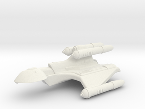 3788 Scale Romulan KillerHawk+ Super-Heavy Cruiser in White Natural Versatile Plastic