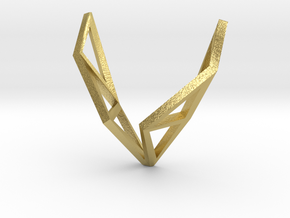 sWINGS Structura, Pendant in Natural Brass