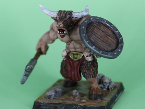 minotaur_miniature in Smooth Fine Detail Plastic