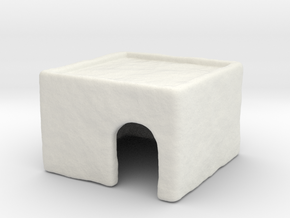 Small Flat Hovel 1:48 / 35mm in White Natural Versatile Plastic