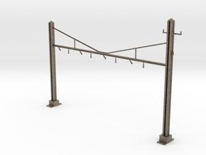 HO Scale PRR K Braced 4 Track Y BRACKET in Matte Bronzed-Silver Steel