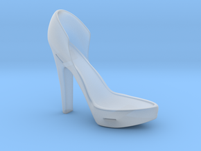 Right Leather-Strap High Heel in Smooth Fine Detail Plastic