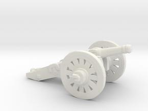 HO Scale Cannon in White Natural Versatile Plastic