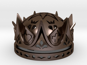 Royal Love Crown Ring Box - Proposal, Engagement in Polished Bronze Steel