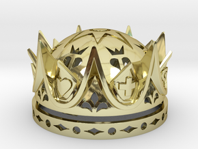 Royal Love Crown Ring Box - Proposal, Engagement in 18k Gold Plated Brass