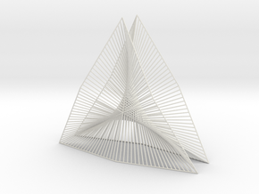 Shape Wired Parabolic Curve stitching Art V2 in White Natural Versatile Plastic
