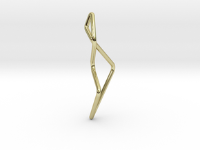 A-LINE Enmotion, Pendant. Pure Chic in 18K Gold Plated