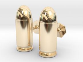 45 ACP Cartridge Cufflinks in 14K Yellow Gold
