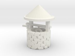 O Scale Wishing Well in White Natural Versatile Plastic