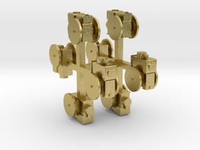 Stationärmotor ohne Transmissionsabtrieb 8erSet TT in Natural Brass