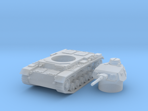 panzer III F scale 1/144 in Smooth Fine Detail Plastic