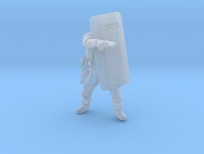 Swat-team shield - variation B in Smooth Fine Detail Plastic