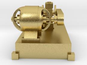 Motor-Generator-Satz (V6) mit Transmission TT 1:12 in Natural Brass