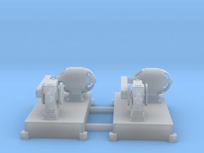 Motor-Generator-Satz (V8) mit Transmission 2erSet  in Smooth Fine Detail Plastic