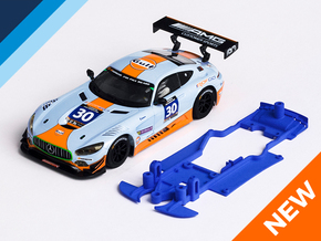 1/32 Scalextric AMG Mercedes GT3 Chassis S.it pod in Blue Processed Versatile Plastic