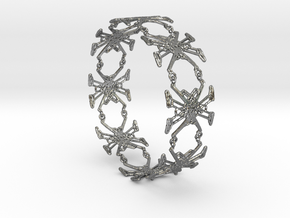 dafxbracelet in Polished Silver (Interlocking Parts)