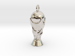 Football Trophy Pendant in Platinum