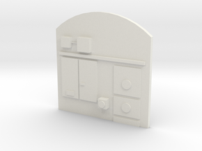 Hornby/Lima Class 20 Driver's Cab Wall Insert in White Natural Versatile Plastic