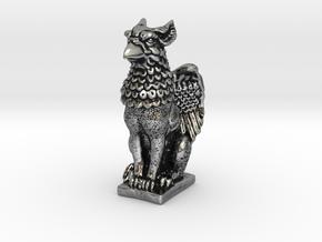Griffin mini Statue in Antique Silver: Small