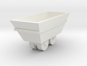 O Scale mine cart in White Natural Versatile Plastic