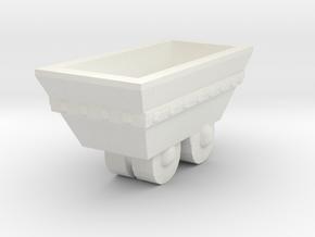 S Scale mine cart in White Natural Versatile Plastic