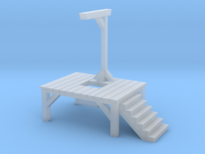 Gallows - Single Posted, Dropped (1/87 Scale) in Smooth Fine Detail Plastic