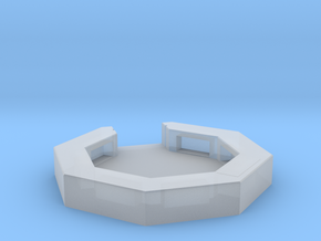 flak emplacement scale 1/100 in Smooth Fine Detail Plastic