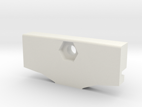 GoPro Goggle Mount- Back Piece in White Natural Versatile Plastic