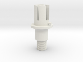 airsoft m4 outer barrel base in White Natural Versatile Plastic