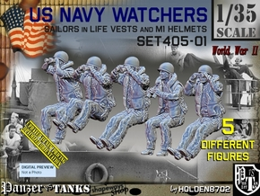 1/35 USN Watchers Set405-01 in Smooth Fine Detail Plastic