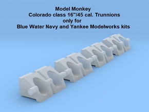 "1/350 Colorado class 16"" Trunnions (for BWN) in Smoothest Fine Detail Plastic"