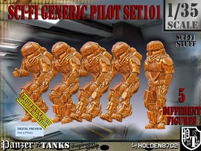 1/35 Sci-Fi Generic Pilot Set101 in Smooth Fine Detail Plastic