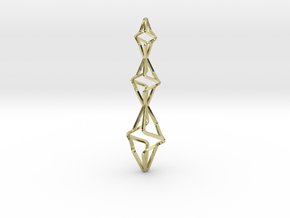 TRISTAR, Pendant. Big Bold Strong in 18k Gold Plated Brass