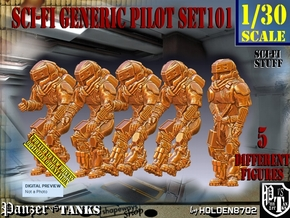 1/30 Sci-Fi Generic Pilot Set101 in White Natural Versatile Plastic