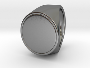 Signe  -  Unique US 6 Small Band Signet Ring in Polished Silver