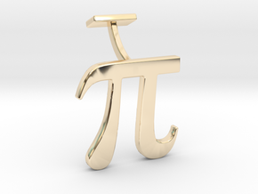 Pi Cuff link in 14k Gold Plated Brass