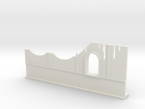 Basic Ruined Wall with Window 28mm in White Natural Versatile Plastic